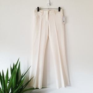 NWT Theory Ivory Wool Str Canvas Career Pants 2